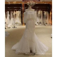 Aus Schulter Meerjungfrau Brautkleid mit Schal