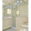 Braçadeiras de fixação de vidro para banheiro de 180 graus