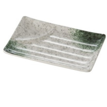 "Melamine ""Celadon""Series Rectangle Plate with Sauce Dish/Melamine Plate/Dinnerware (AMA218)"