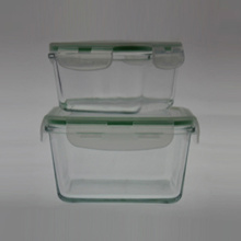 Borosilicate Glass Food Container S/2 Square
