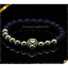 Cooper Perlen Charms Armbänder mit Achat Stein (CB088)