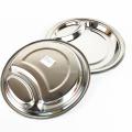 robuste 2-Zoll-Edelstahlschale mit 2 Fächern, runder Teller