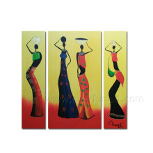 Moderno, abstratos, human, figura, óleo, quadro