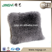 2018 gros tibétain mongol agneau fourrure 45x45cm oreiller en peau de mouton