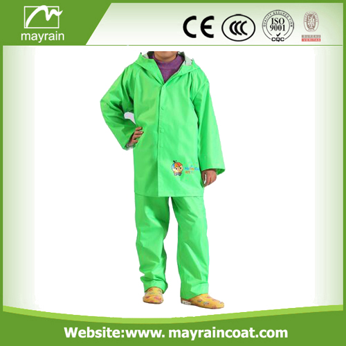 PU Red And Green Rainsuits