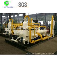 Compresor de refuerzo de gas de uso industrial de gran volumen