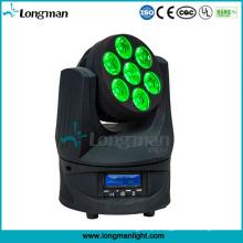 Luzes moventes do efeito do diodo emissor de luz da cabeça de Osram 7PCS 15W RGBW