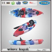 Ganador Nuevo diseñado único plástico Sot Kayak de pesca