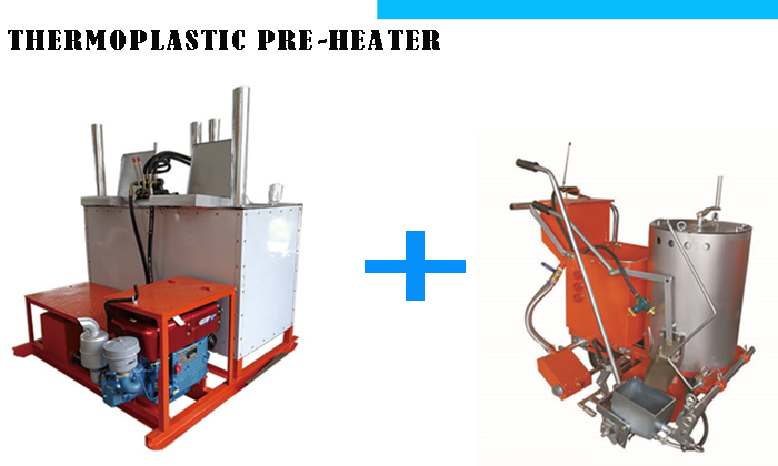 Thermoplastic Paint Pre-heater