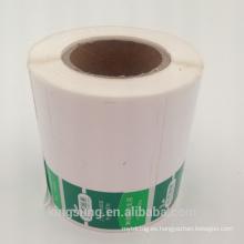 Empaquetado impreso personalizado despega la etiqueta adhesiva de plástico