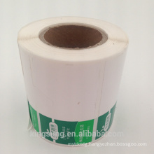 Custom printed packaging peel off plastic stickers label
