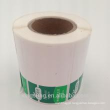 Embalagens impressas personalizadas descascam etiquetas adesivas de plástico