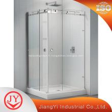 Grandes portes coulissantes en verre pour salle de bain