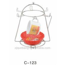 Tetera caliente del metal de la venta - estante de la suspensión de la taza del dren