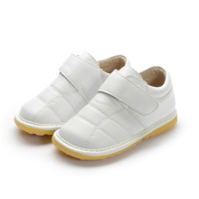 White Baby Boy Genuine Leather Inner Shoes 1-2-3y