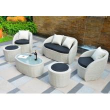 Conjunto de sofá de jardim em vime de 6 peças incrível