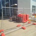 panneau de clôture temporaire enduit de pvc