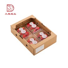 Made in China new recyclable fruit strawberry carton box design