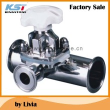 Sanitary Manual diaphragm valve Tee type