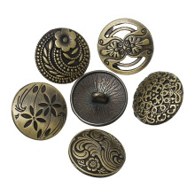These Mixed Antique Silver Flower Metal Buttons