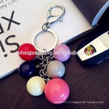 Красочный круглый шар дешевый производитель одежды на заказ акриловый брелок