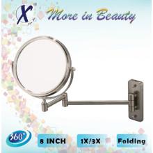 8 pulgadas redonda extensible maquillaje espejo (J841)