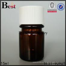 botella de medicina ámbar de color marrón botella pharmaceutica 15 ml 30 ml, servicio de impresión, 1-2 muestras gratis