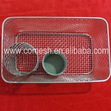 Durable stainless steel kitchen cooking baskets