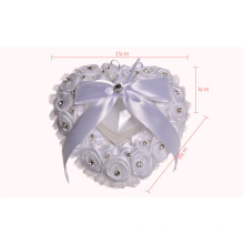 Flower heart-shaped beading bridal party decoration bridal ring bearer pillow
