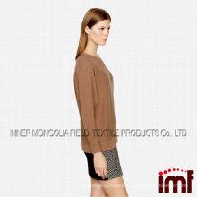 Модный круглый воротник из модной модной кашемировой свитера