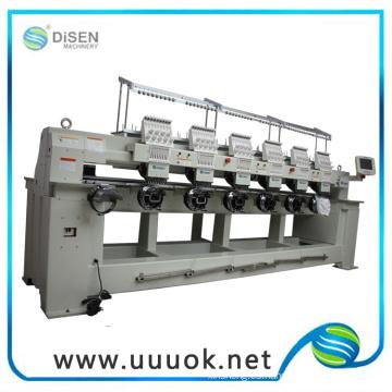 Máquina automatizada de bordado comercial de 6 cabezas