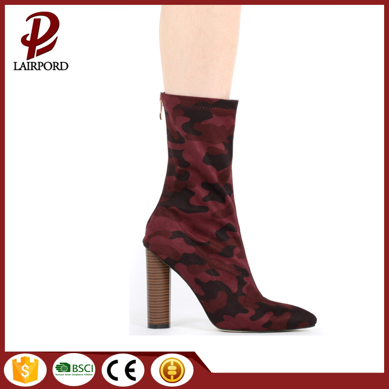 ankle chunky high heel suede boots womens