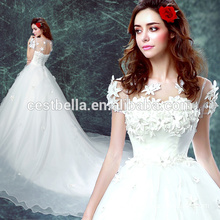 Elegant cheap china custom made sweetheart wedding dress