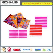 Top sale clear pvc box plastic colorful stripe pp file folder A4 size document bag