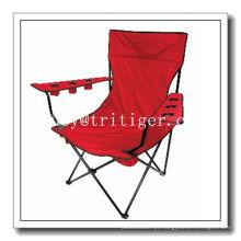 cadeira dobrável com 6 suportes para copos e saco térmico