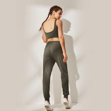 Women  Yoga Bra Pants Matching Sets