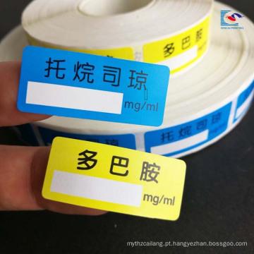 Arte papel laminação matte produtos de saúde etiquetas autocolantes para selo