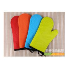 Blue Red Thick Cotton Liner Silicone Protective Gloves