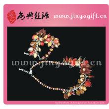 Design exclusivo artesanal talão artesanato belo conjunto de jóias de traje