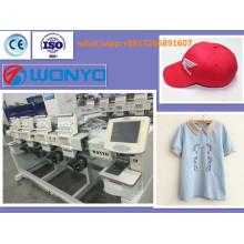 Автоматическая вышивальная машина с 4 головками для одежды / шапок / плоских