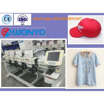 Máquina automática del bordado de la computadora de 4 cabezas para la ropa / los casquillos / el plano