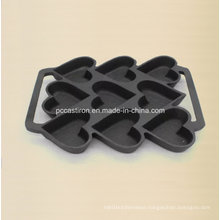 9PCS Preseasoned Cast Iron Cake Mold Bakeware 24X19cm
