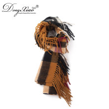 Bufandas Mujer fina costilla tejida 100% lana corbata bufanda