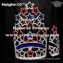 10inch Red Blue White Rhinestone Pageant Crowns