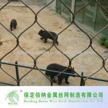 Malla negra del zoológico de la oxidación