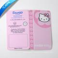 Pink Fold Hang Tag/Paper Swing Tag for Clothing Tag