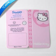 Tag rosa dobrável / tag de balanço de papel para tag de roupas