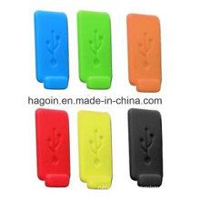 Tomada de borracha colorida não-tóxica de USB