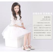 Dernière genou longueur enfants robe courte une ligne fleur fille robe anniversaire modèle enfants fête bébé fille robe boutique en ligne inde