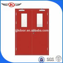 JK-F9023Double leaf emergency fire doors/metal fire door prices